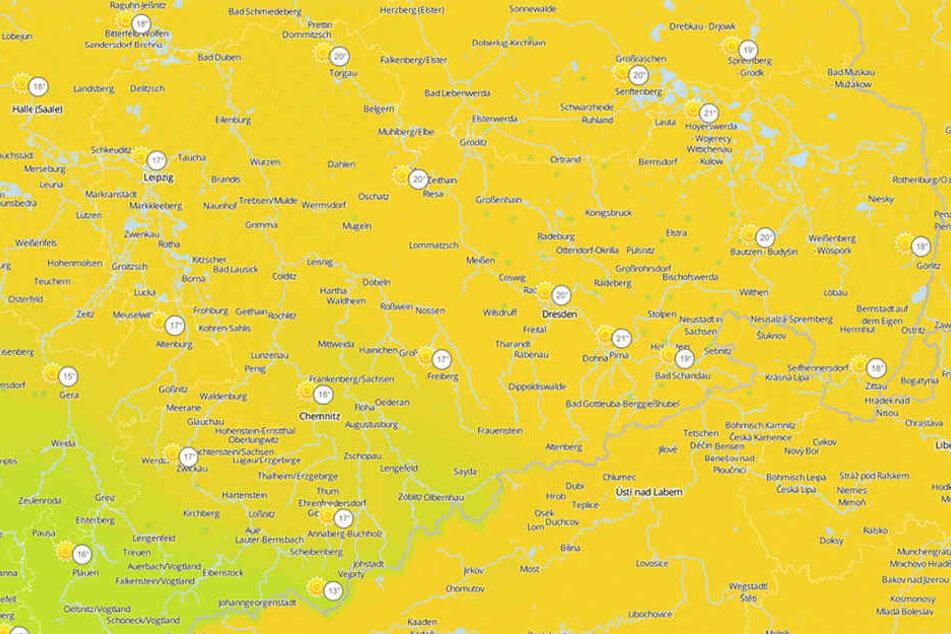 Spätestens am Dienstag wird es in ganz Sachsen wieder richtig schön und spätsommerlich warm.