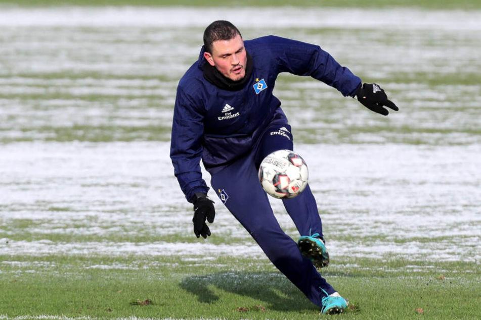 Kyriakos Papadopoulos arbeitet auf dem Trainingsplatz an seiner Rückkehr.