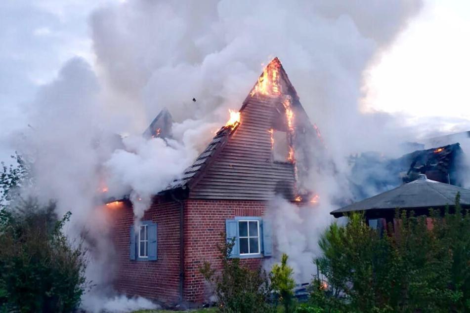 Die Bewohner des Hauses waren zum Zeitpunkt des Brands im Urlaub.