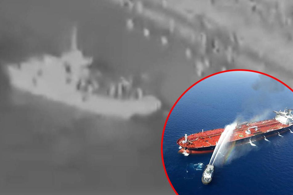 Vorwürfe gegen Iran: US-Militär veröffentlicht Video, das Öltanker-Angriff zeigen soll
