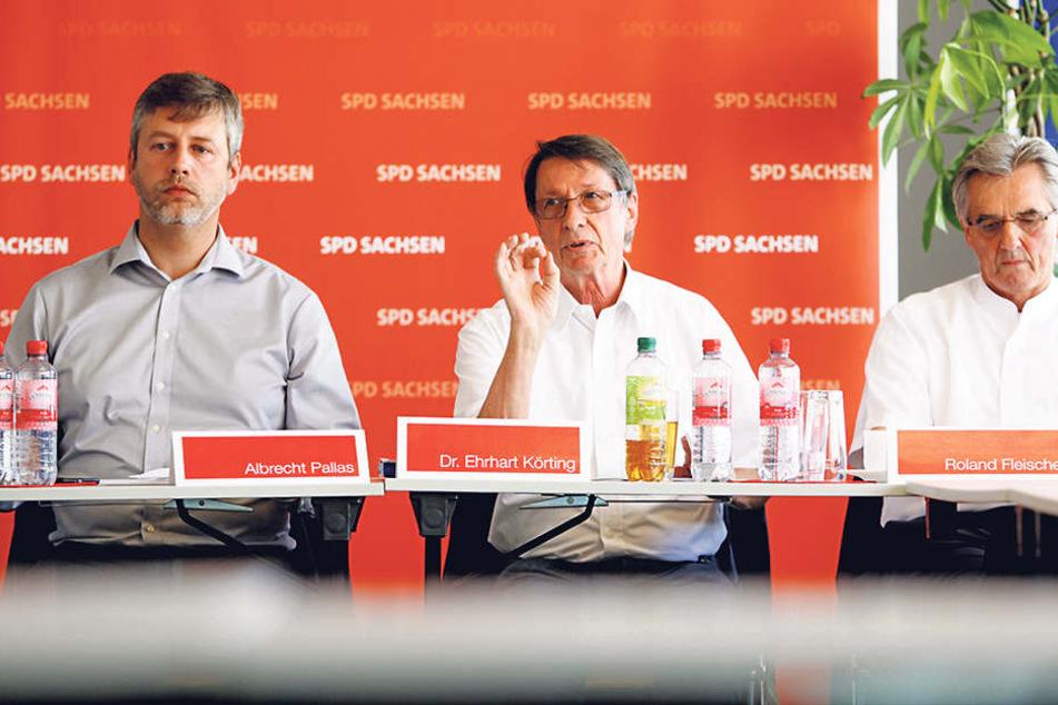Die SPD-Innenexperten Ehrhart Körting (Mi.), Albrecht Pallas (l.) und Roland Fleischer.