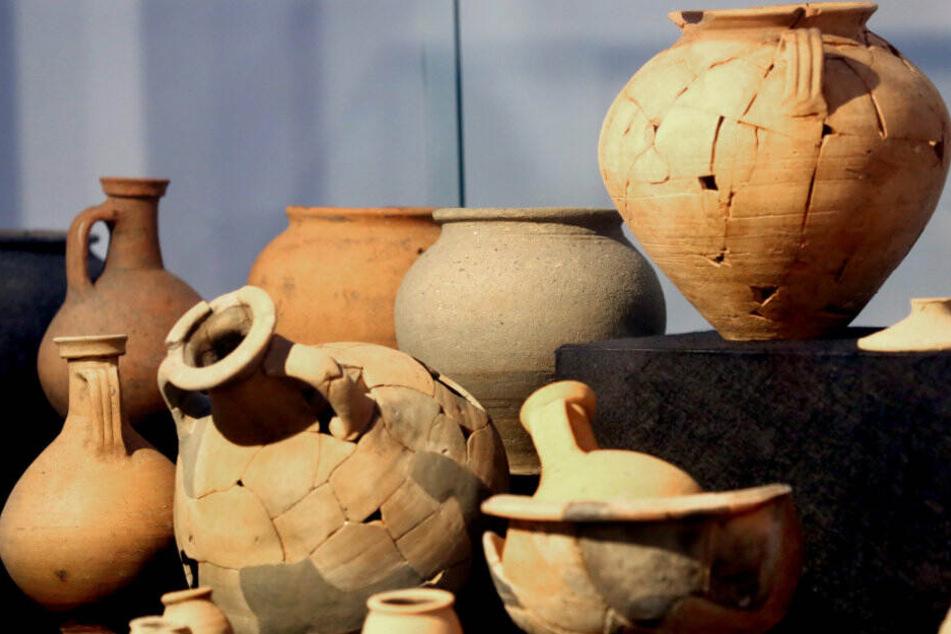 2000 Jahre alte Tonkrüge der Römer.