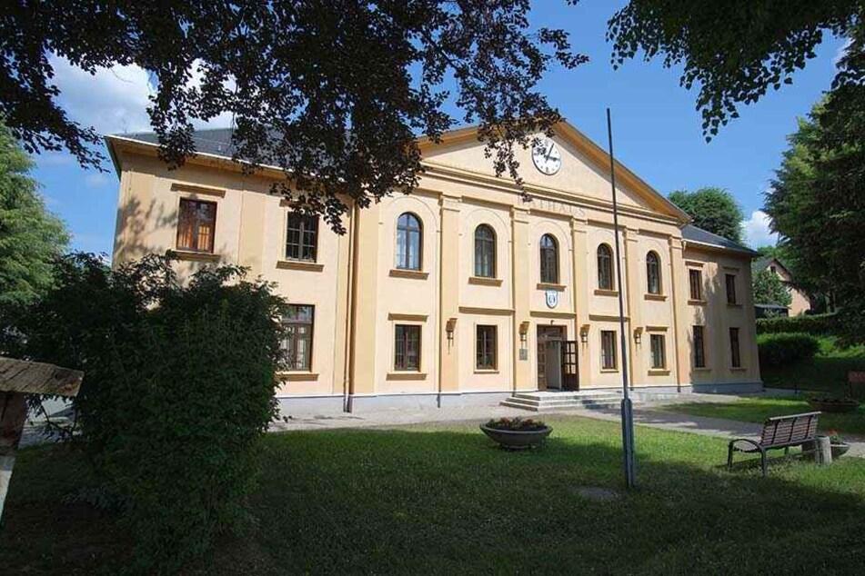Das Rathaus von Bad Schlema.