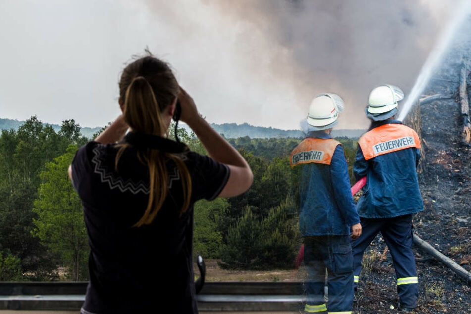 Die Feuerwehr ist ständiger Alarmbereitschaft. (Bildmontage)