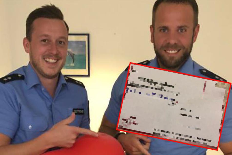 Polizisten stellen Ballon sicher und finden rührende Botschaft