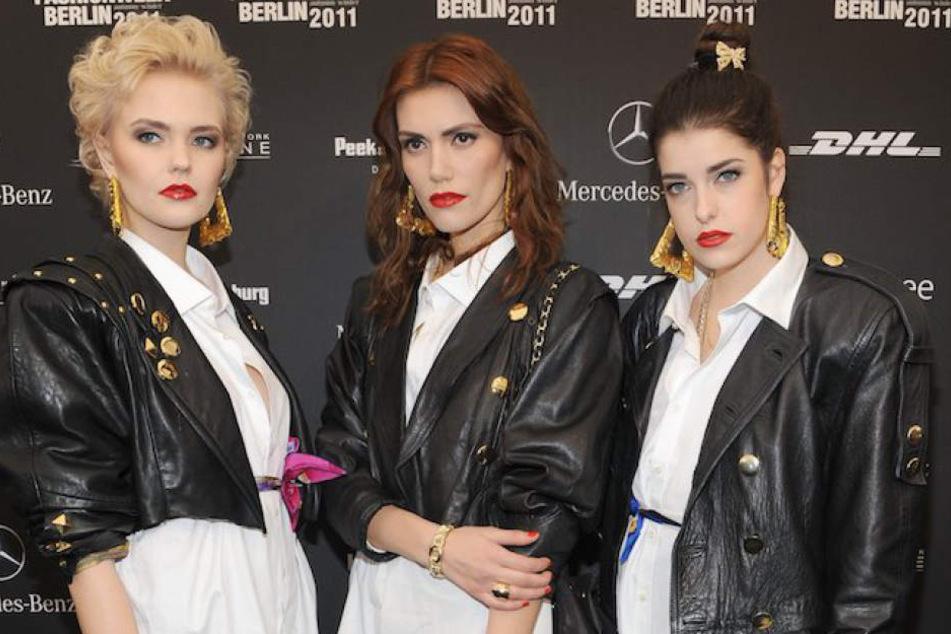 """Traten stets einheitlich im modischen 80er-Retro-Look auf: """"The Rio Girls"""" Bonnie Strange, Jackie Hide und Marie Nasemann (von li.)."""
