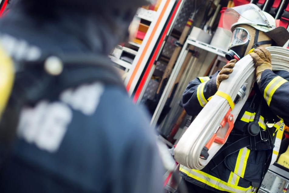 Das Feuer wurde offensichtlich mit Brandbeschleuniger gelegt (Symbolbild).