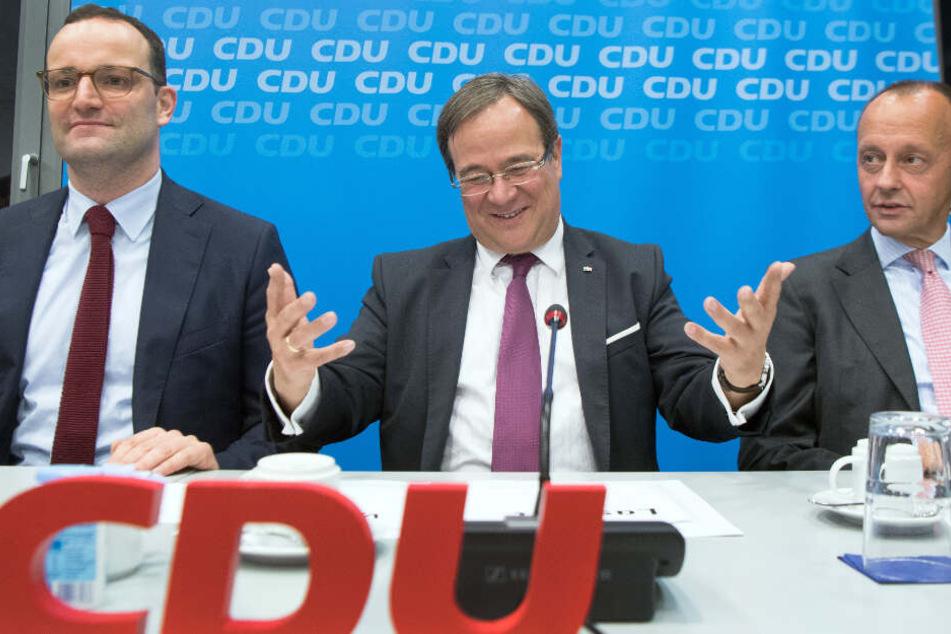 Die drei potenziellen Kandidaten für die Nachfolge an der CDU-Parteispitze: Gesundheitsminister Jens Spahn, NRW-Ministerpräsident Armin Laschet und Ex-Unionsfraktionschef Friedrich Merz (v.l.n.r.). (Archivbild)