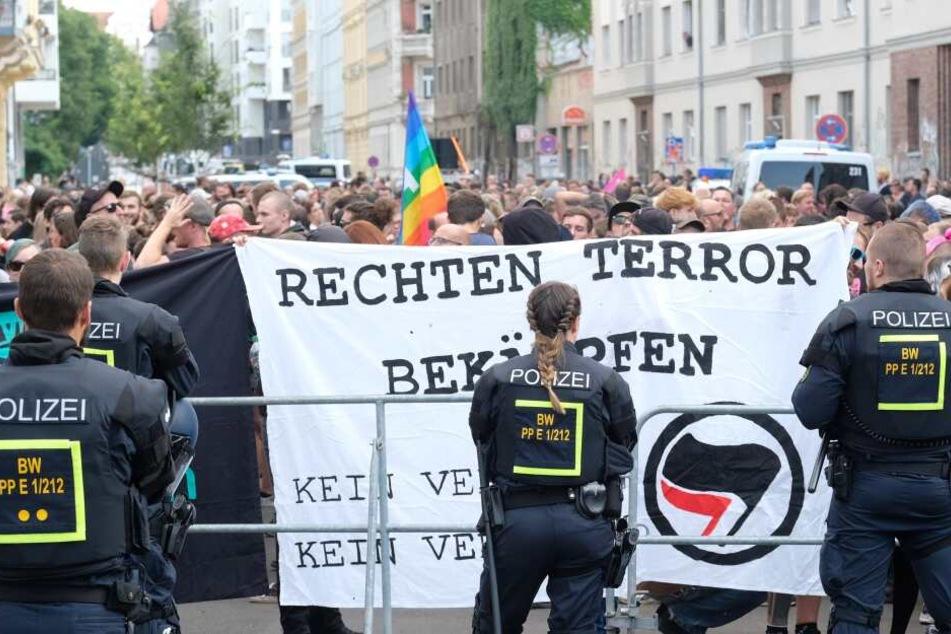 Im Leipziger Süden formierte sich ein großer Gegenprotest.