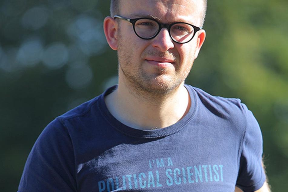 ADFC-Landes-Chef Konrad Krause (34) bemängelt den Stellenmangel im Straßenbauamt.