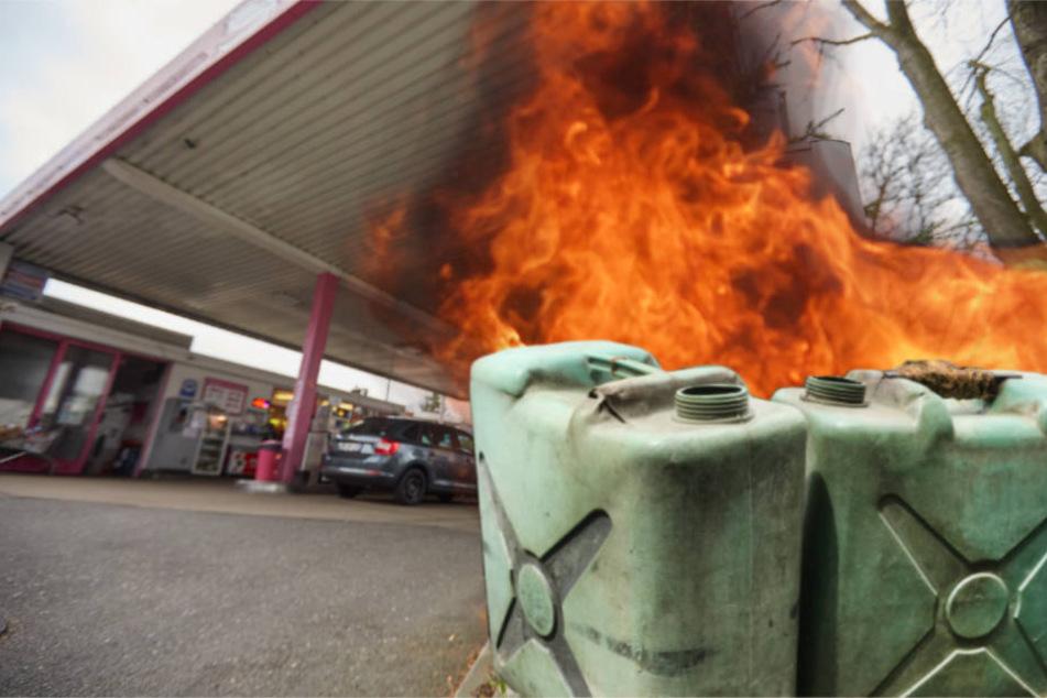 Der Vorfall geschah an einer Tankstelle in Mannheim (Symbolbild)