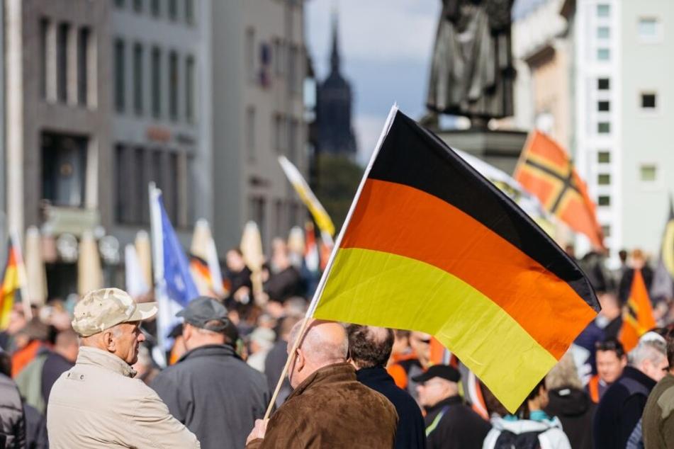 Pegida-Jahrestag in Dresden. (Archivbild)