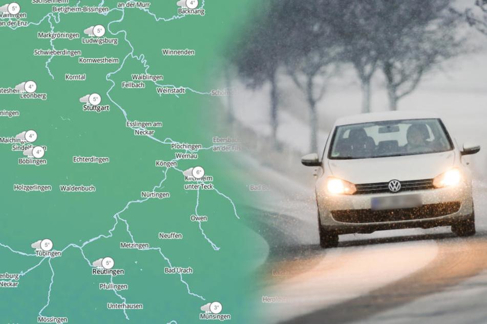 Der Sonntag hat in Baden-Württemberg teils mit Schnee begonnen. (Fotomontage/Symbolbild)