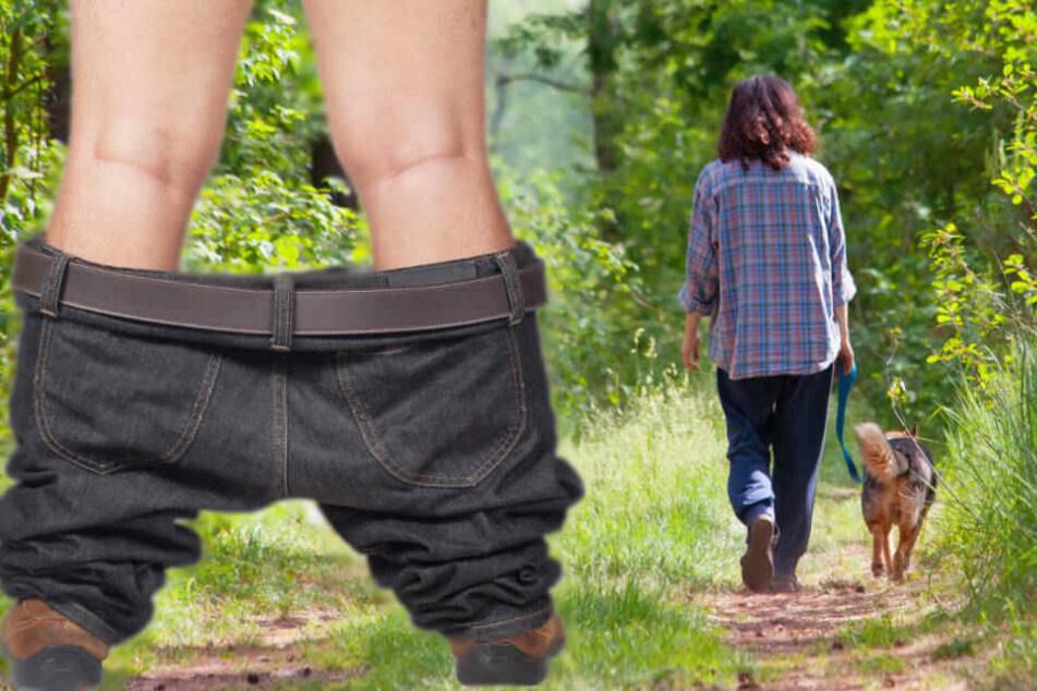 Schock beim Gassi gehen: Frau dreht sich um und sieht Mann