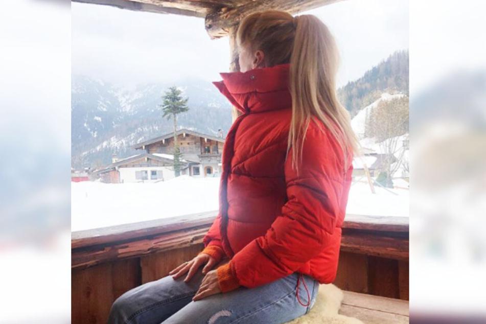 Die Blondine macht derzeit Urlaub mit ihrer Familie in Österreich.