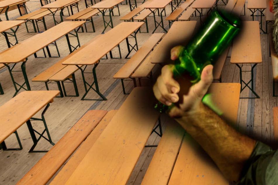 Streit eskaliert: Mann greift Gegner mit Flasche und Bierbank an