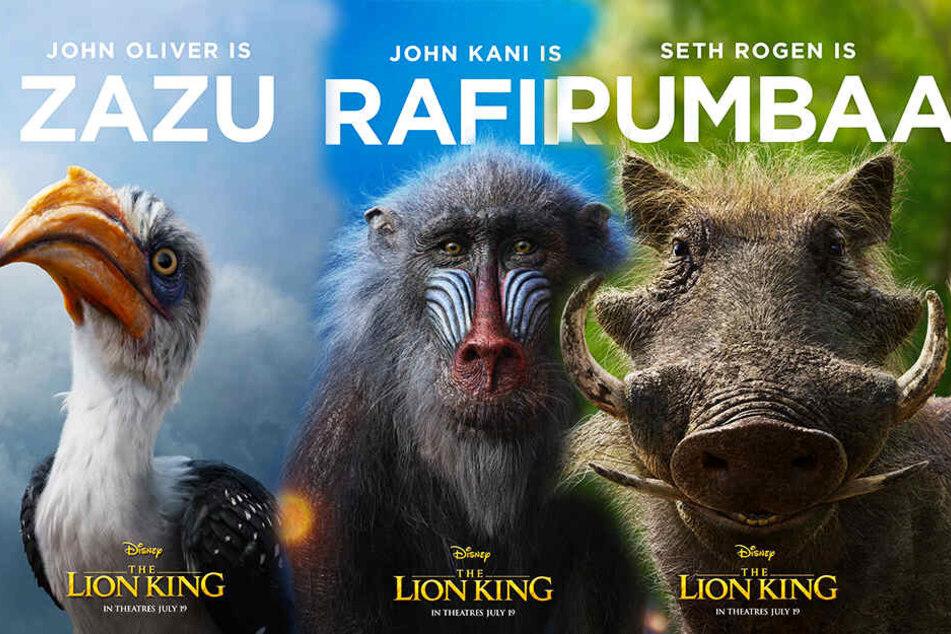Zazu, Rafiki und Pumbaa werden vermutlich auch wieder eine wichtige Rolle spielen. (Bildmontage)