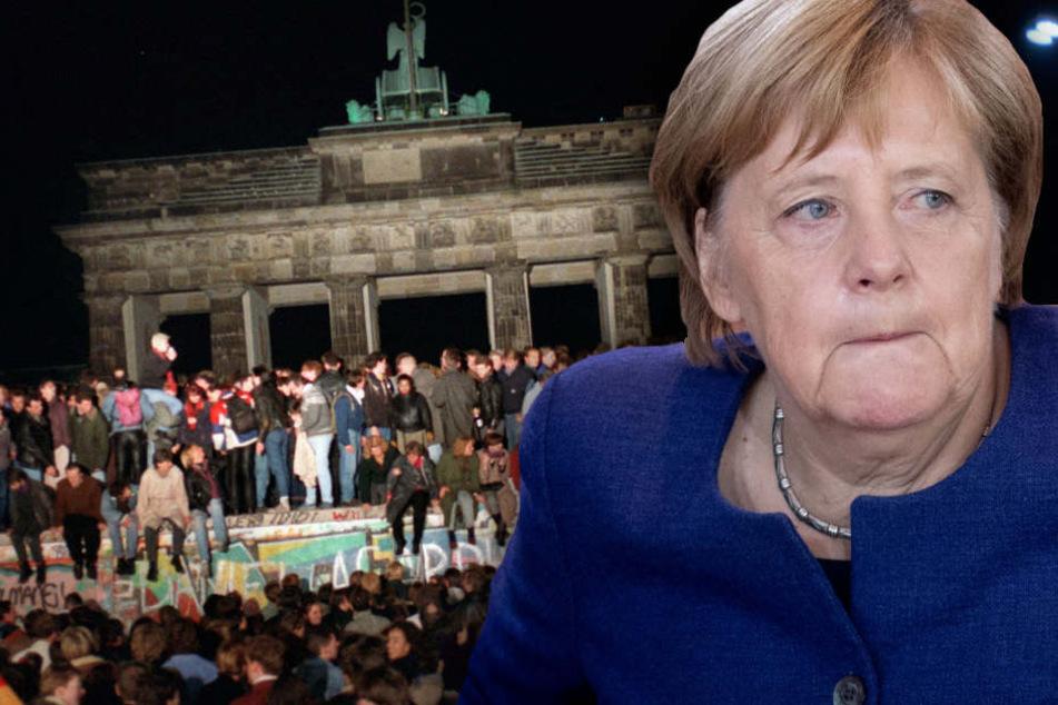 Merkel äußert Verständnis für Unmut vieler Ostdeutscher, dennoch sei dies kein Freifahrtsschein. (Bildmontage)