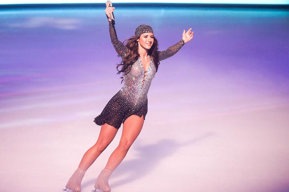 """Bei """"Dancing on Ice"""" machte Sarah Lombardi (26) eine gute Figur und gewann."""