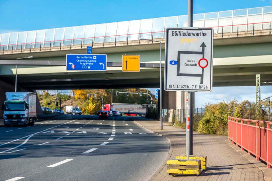 Ab auf die A4: Wer ab heute Abend von Dresden aus nach Meißen will, muss  reichlich Extra-Zeit einplanen.