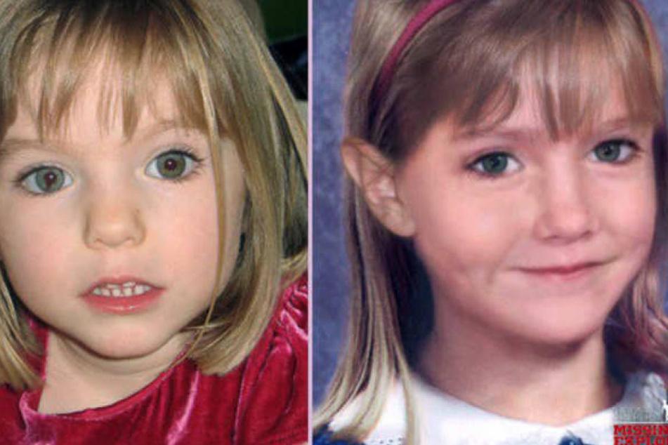 Maddie bei ihrem Verschwinden (li.) und ihr vermutliches Aussehen im Alter von sechs Jahren.