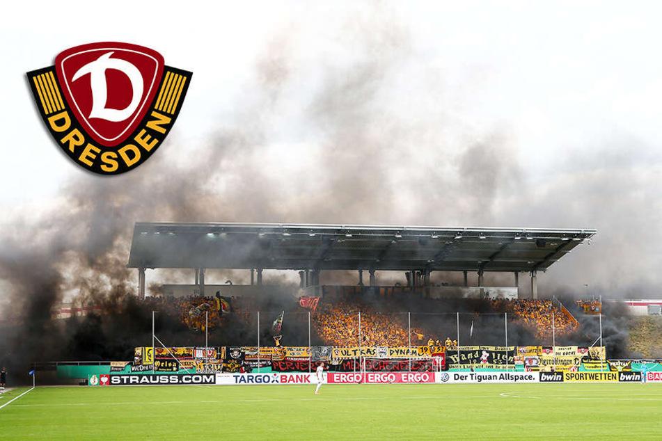 Geldstrafe! Dynamo muss für Pyrotechnik der Fans im DFB-Pokal blechen