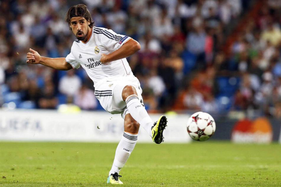 Sami Khedira 2013 im Trikot von Real Madrid.