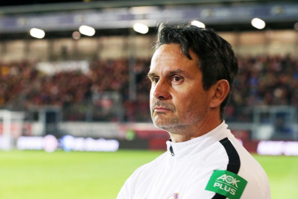 """""""Very pissed!"""" Aues Coach Dirk Schuster war zu Recht total enttäuscht von der Vorstellung seiner Mannschaft"""