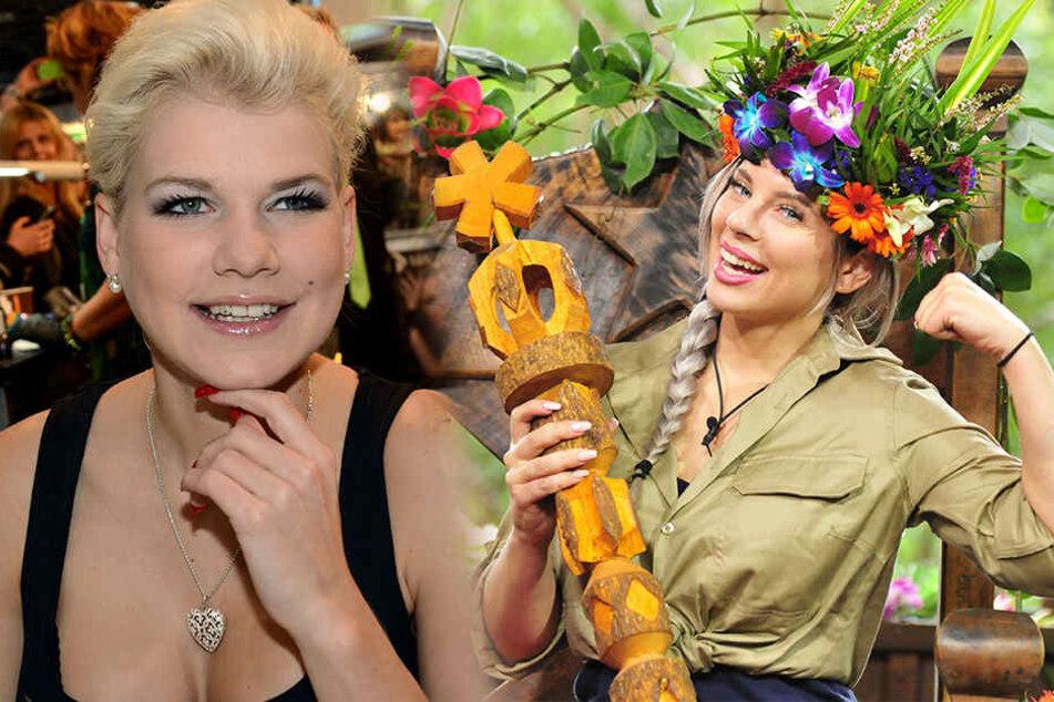 Melanie Müller (29) saß völlig fertig und abgekämpft auf dem Dschungel-Thron. Wie kann es da sein, dass Jenny Frankhauser (25) so perfekt gestylt aus dem Dschungel kommt?