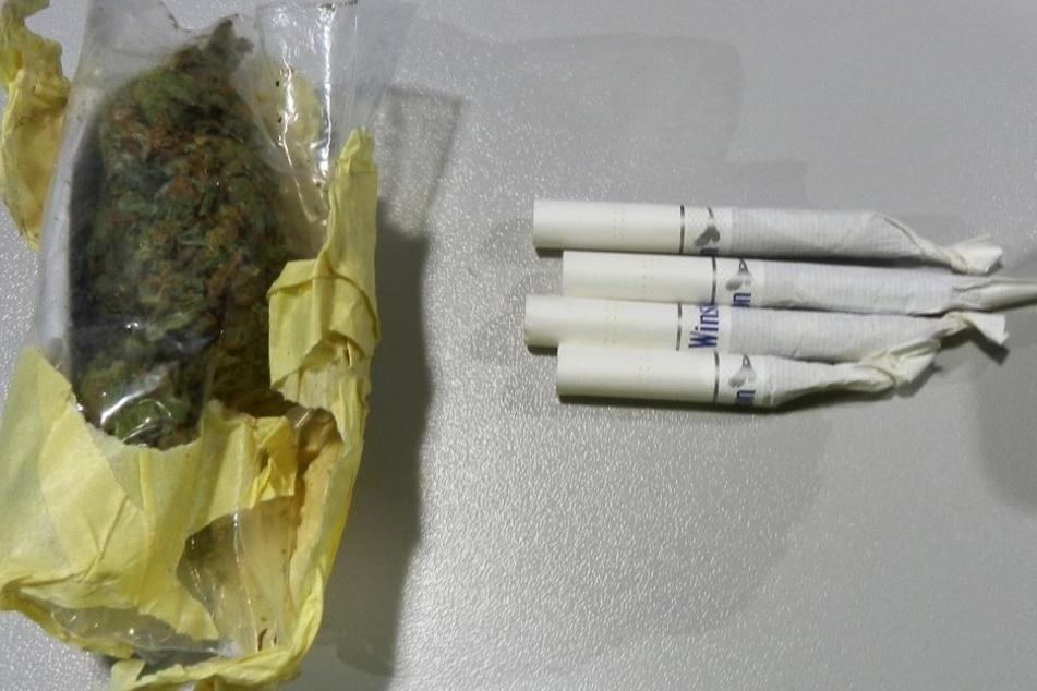 Die Zöllner entdeckten auch mehrere Gramm Marihuana bei dem Esten.