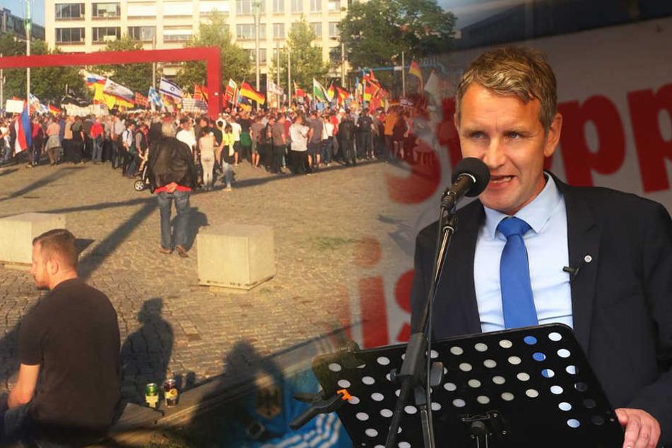 Bittere Enttäuschung für PEGIDA: Trotz Björn Höcke wird der Postplatz nicht voll