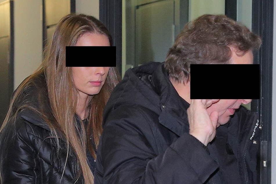 Vaclav H. (62) und seine Lebensgefährtin Veronika S. (29) im Gericht.