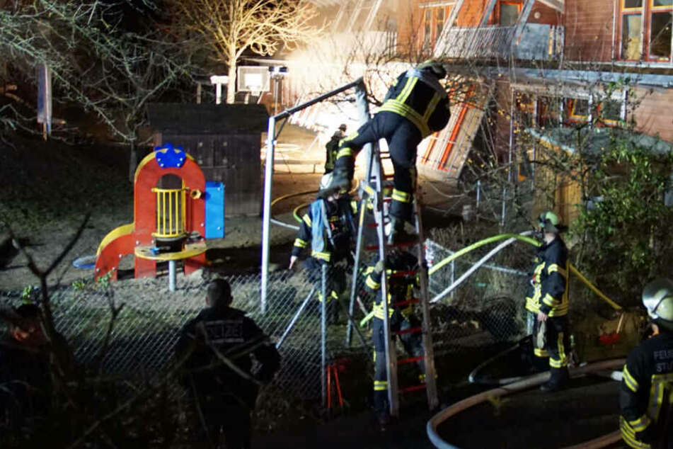 Einbrecher legt Feuer in Kindergarten: 250.000 Euro Schaden!