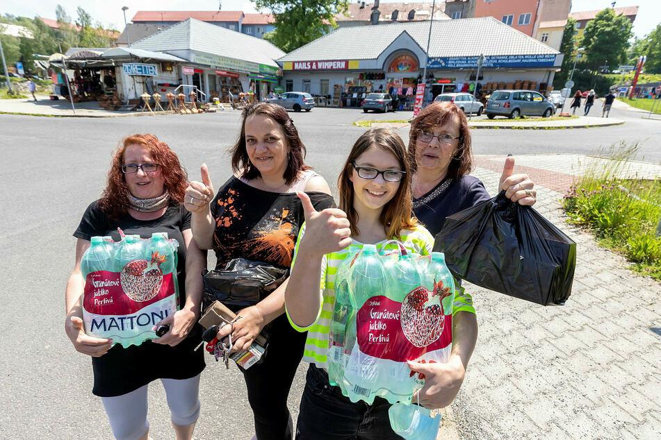 Können wieder nach Tschechien: Die Chemnitzerinnen Christin Wahlich (42), Nicole Schneider (36), Celine Schneider (15) und Elke Large (61, v.l.n.r.).