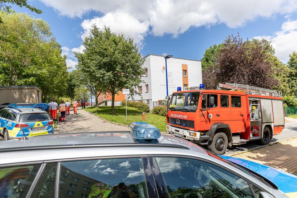 """Feuerwehreinsatz am Montagnachmittag in der Kita """"Mischka"""" in Auerbach! Gegen 14 Uhr wurde dort der Feueralarm ausgelöst."""