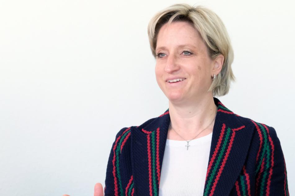 Baden-Württembergs Wirtschaftsministerin Nicole Hoffmeister-Kraut (47, CDU).