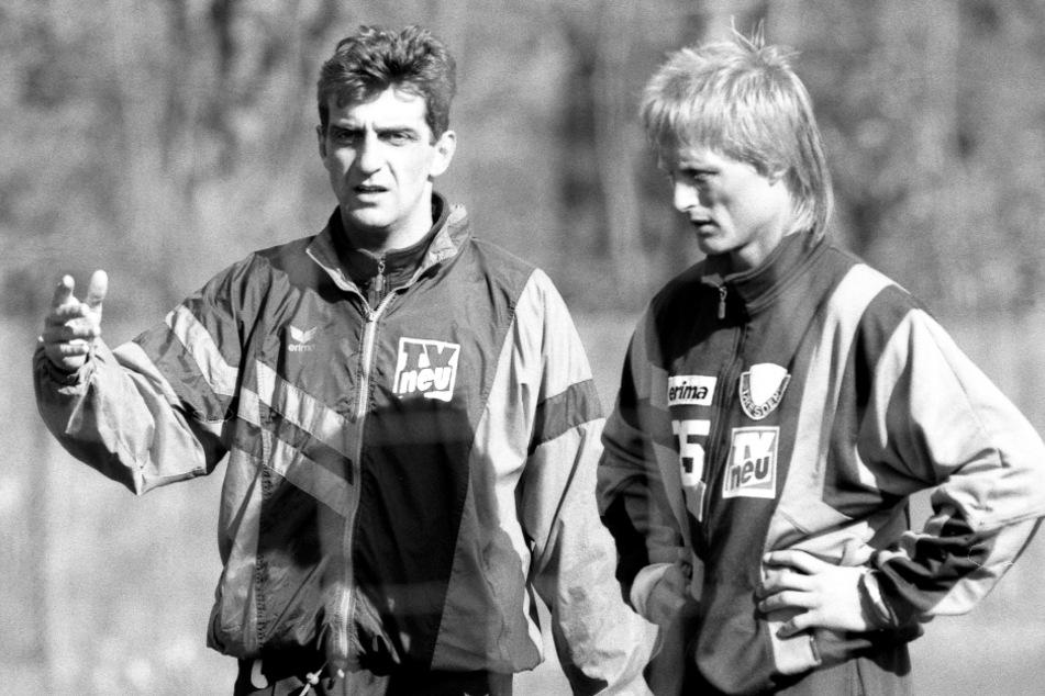 Im Oktober 1994 war Ralf Minge bei Dynamo der Trainer von Jörn Andersen.