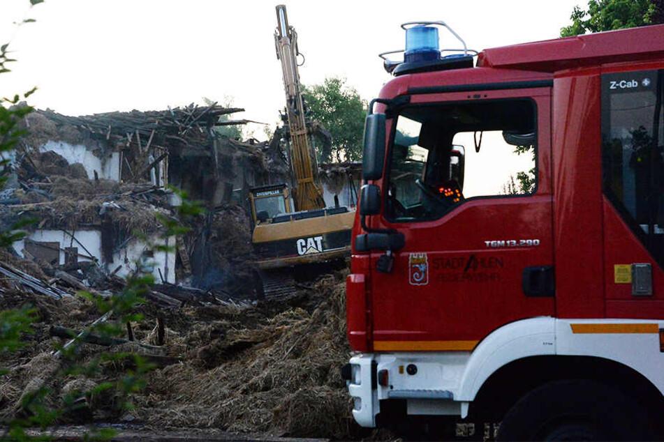 Alle Löschversuche der Feuerwehr waren vergebens.