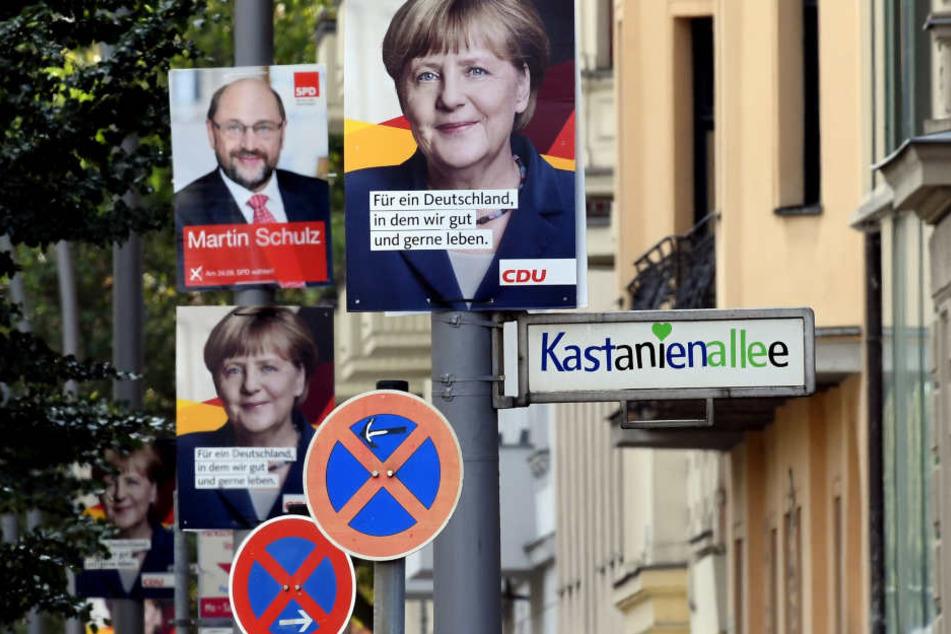 Wahlplakate in Berlin für die Bundestagswahl am 24. September.