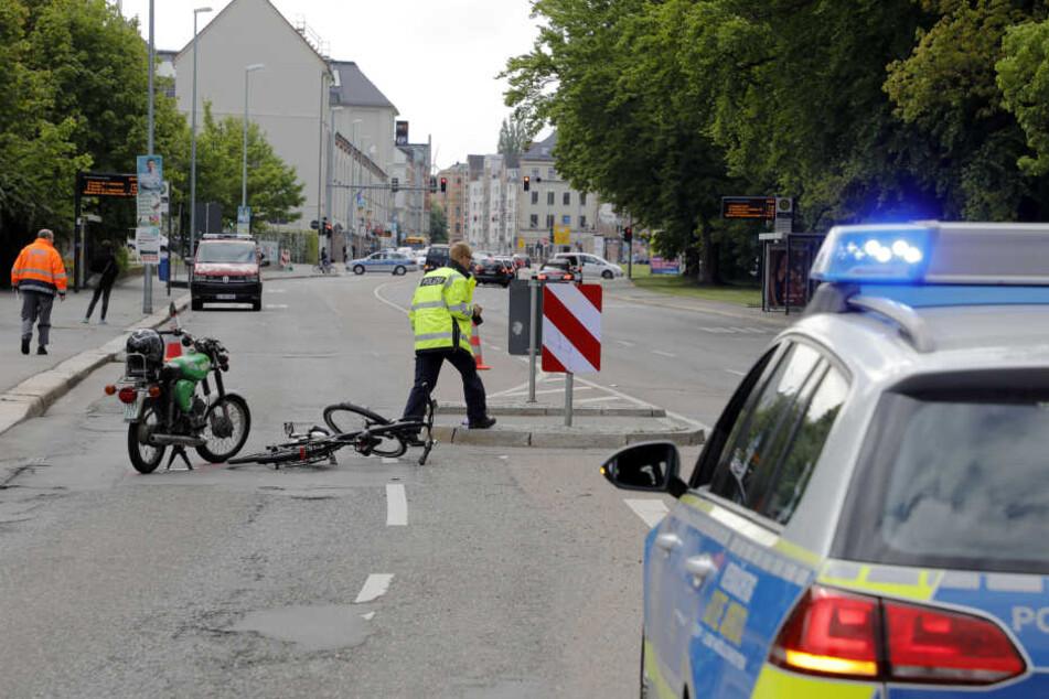 Die Hartmannstraße musste stadteinwärts gesperrt werden.