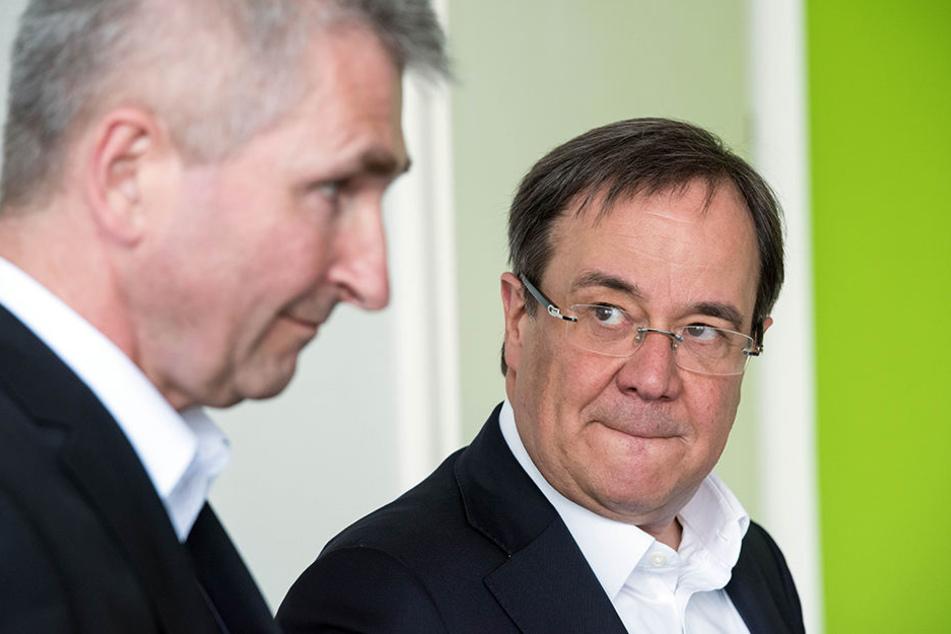 Planen die Zukunft: Armin Laschet (re.), NRWs CDU-Landesvorsitzender, und der ehemalige NRW-Wissenschaftsminister Andreas Pinkwart (FDP).