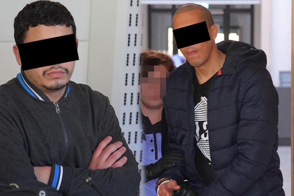 Haupttäter Chakir A. (24, l.) aus Marokko beruft sich auf Erinnerungslücken. Nach wiederholten Nachfragen erinnerte sich Mittäter Radouan K. (27) aus Libyen dann doch noch an Details der Tat.