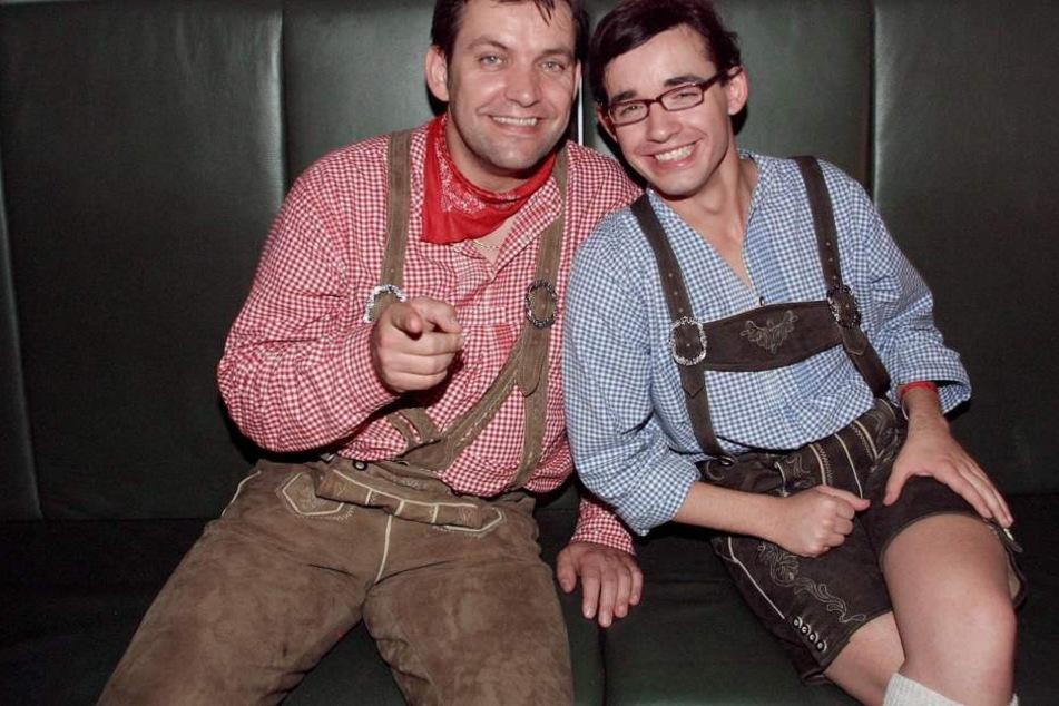 Vater Günther und Daniel beim Oktoberfest im Jahr 2004.