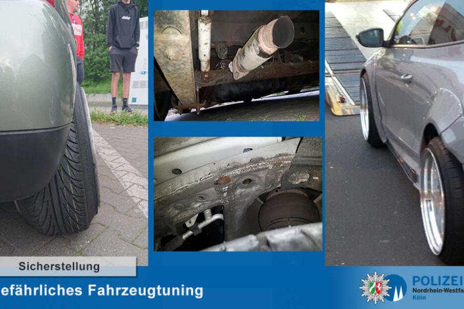 Die Tuner hatten ihre Autos unter anderem tiefergelegt und breite Felgen aufgezogen.