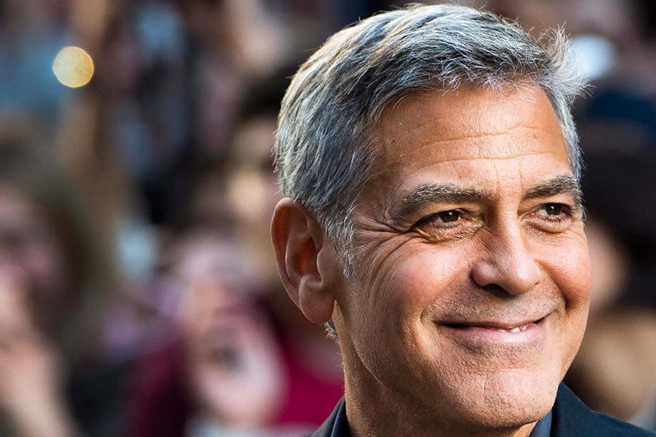 George Clooney mit Roller verunfallt