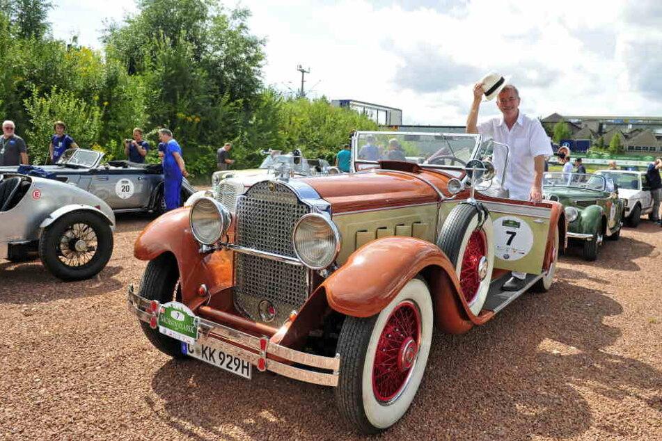 15. Sachsen Classic von Zwickau: Dr. Klaus Kleinertz steuert einen Packard Straight Eight aus dem Jahr 1929.