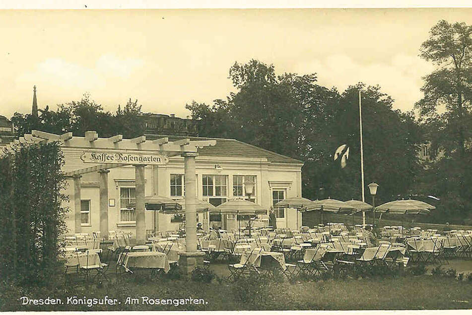 "So sah das ""Kaffee Rosengarten"" um 1936 aus."