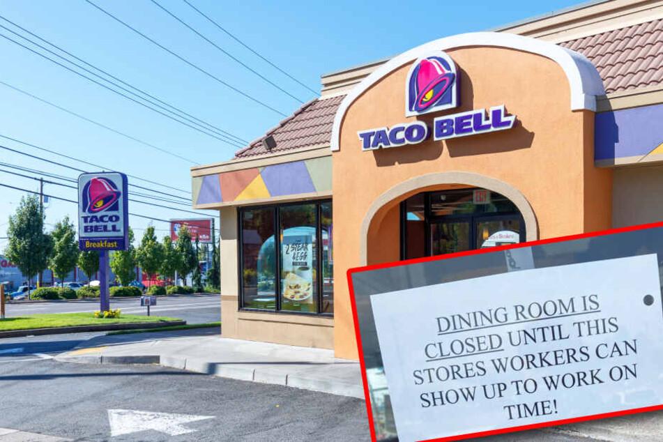 """Mitarbeiter unpünktlich: """"Taco Bell""""-Chef teilt seinen Unmut und lässt Restaurant zu!"""