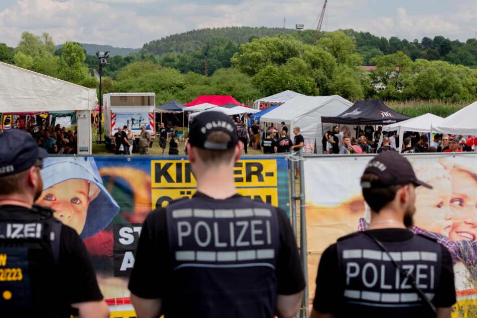 Am Neonazi-Festival in Themar nahmen etwa 1900 Besucher teil.