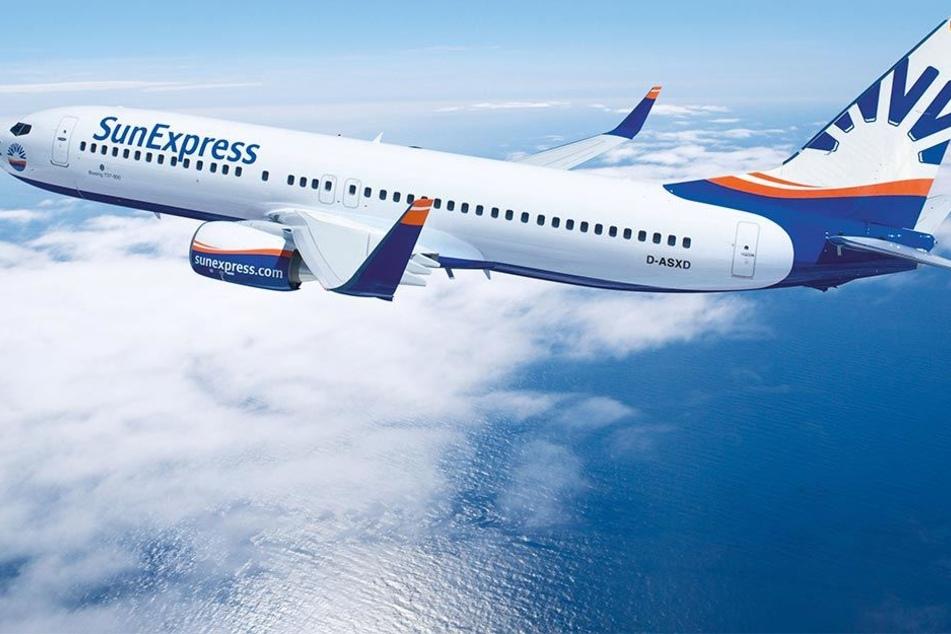 Boeing 737-800 der deutschen Fluggesellschaft SunExpress (Symbolbild).